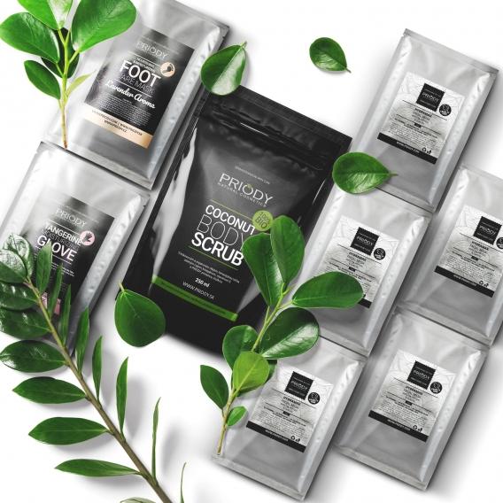 Kokosový píling na telo + Hydratačná maska na ruky + Levanduľová maska na nohy + HydraMax hydratačná maska 5ks