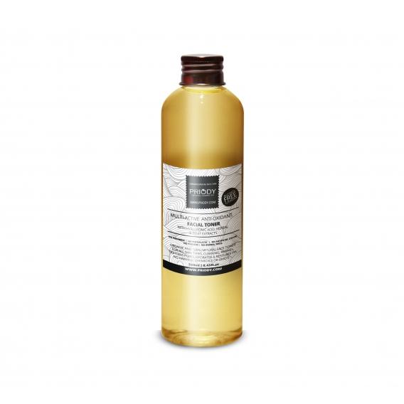 PRIODY | Multiaktívna antioxidačná micelárna voda s kyselinou hyalurónovou, rastlinnými a ovocnými extraktmi