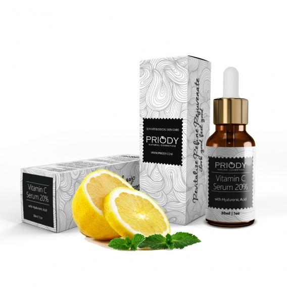 PRIODY | Sérum s vitamínom C a kyselinou hyalurónovou